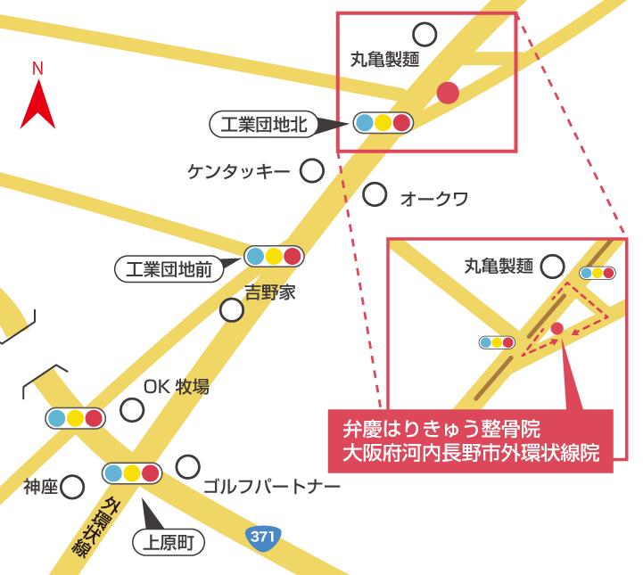 大阪府河内長野市外環状線院周辺地図