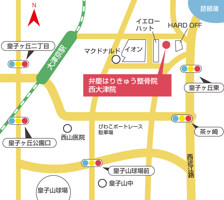 西大津院周辺地図